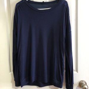 NWT Long Sleeve Hannah navy blouse L